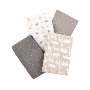 Carter's Flannel Receiving Blankets, Taupe Jungle