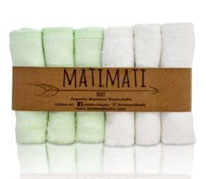 Matimati Bamboo Baby Washcloths (6-pack)