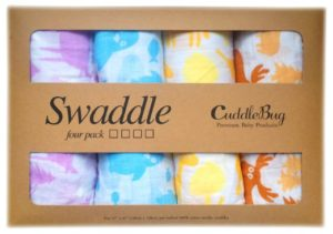 Muslin Baby Swaddle Blankets 4 Pack