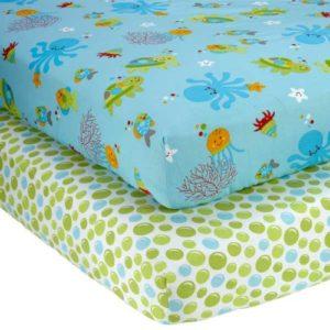 NoJo Little Bedding 2 Count Crib Sheet Set