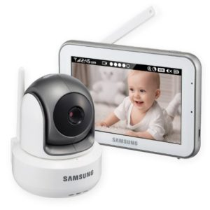 Samsung SEW-3043W BrightVIEW HD Baby Video Monitoring System IR Night Vision PTZ 5.0 Inch