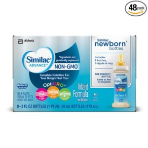 Similac Advance Newborn Infant Formula with Iron, Stage 1 Ready-to-Feed bottles