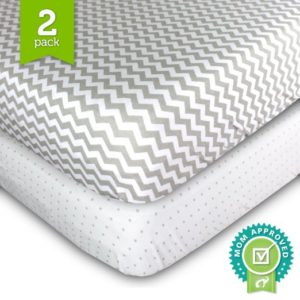 Ziggy Baby Jersey Cotton Fitted Crib Sheet Set